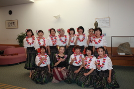 「佐土原総合文化祭」にフラダンス&キッズチアが出演しました(^_^)